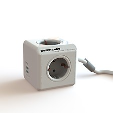 PowerCube con Alargador y Dos Puertos USB