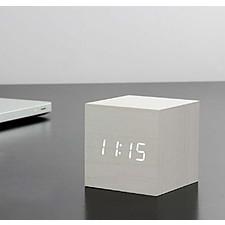 "Reloj Despertador ""Cube Click Clock"" Blanco"