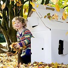 Casa de Cartón Grande de Kidsonroof