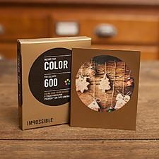 Película Color con Marco Dorado para Cámaras Polaroid 600