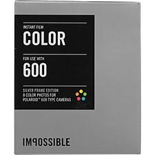 Película Color con Marco Plata para Cámaras Polaroid 600