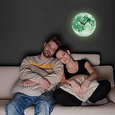 Reloj de Pared Luna que Brilla en la Oscuridad