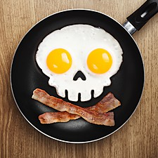 Molde Calavera para Huevos Fritos