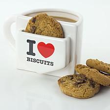 """Taza con Bolsillo """"I Love Biscuits"""""""