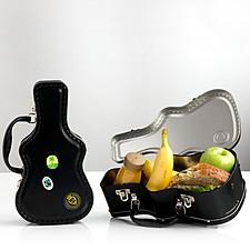 Tartera metálica con forma de funda de guitarra