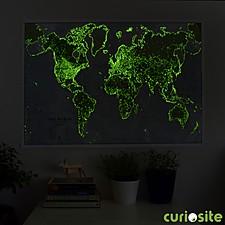 Mapamundi que Brilla en la Oscuridad