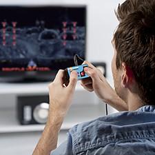 Mando de videojuegos arcade para la tele