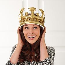 Corona Inflable Rey o Reina por un Día