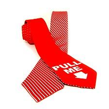 Corbata Reversible Rayas Rojas/Pull Me