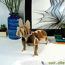 """Mini Perro de Cartón """"Bulldog Francés"""""""