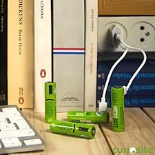 "Cuatro Pilas Recargables Micro USB ""MicroBatt"""