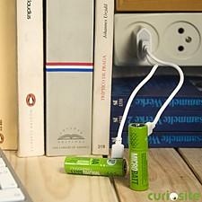 "Dos Pilas Recargables Micro USB ""MicroBatt"""