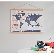 Mapamundi DIY de Punto de Cruz