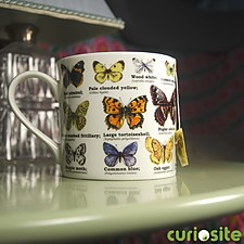Taza de Porcelana Mariposas