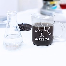 Taza de Cristal Molécula de la Cafeína