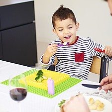 Vajilla Infantil Compatible con Lego Duplo Placematix