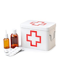 First Aid Metal Box red Cross