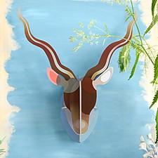 Cabeza de Antílope de Cartón