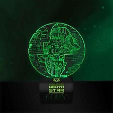 Lámpara Estrella de la Muerte Efecto 3D