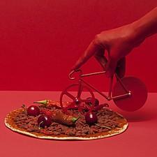 Cortapizzas Bicicleta Fixie Monocromo