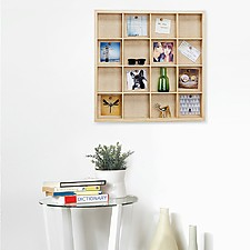 Gridlock Wooden Photo Display