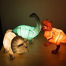 Lámpara de Dinosaurios Origami