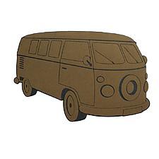 Felpudo original con forma de furgoneta hippie
