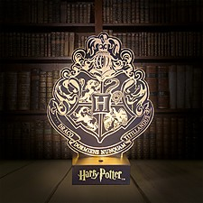 Lámpara 3D Harry Potter Hogwarts Crest
