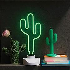 Lámpara de Neón Grande Cactus