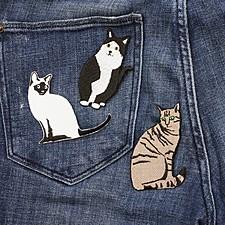 Parches para Ropa Gatos