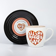 Mug and Saucer Set All You Need Is Love