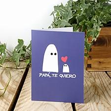 Tarjeta de Felicitación Papá Te Quiero Fantasma