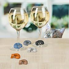 Marcadores de Copas Gatos Wine Lives