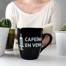 Taza para Cafeinómanos Cafeína en Vena