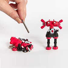 Robots para montar con piezas de metal