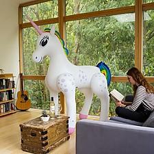 Unicornio Hinchable Gigante
