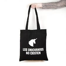 Tote Bag con mensaje Los unicornios no existen