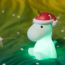Lámpara Unicornio de Navidad