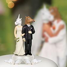 Figura para Tarta de Boda Caballo y Unicornio