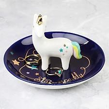 Porta anillos con forma de unicornio de colores