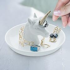 Porta anillos grande con forma de unicornio