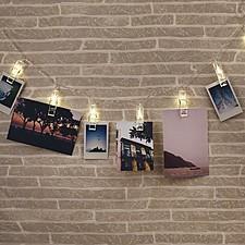 Guirnalda de minipinzas luminosas para colgar fotos