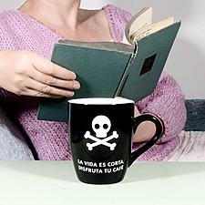 Taza para Cafeinómanos La Vida es Corta, Disfruta tu Café