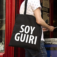 Tote bag con mensaje Soy guiri