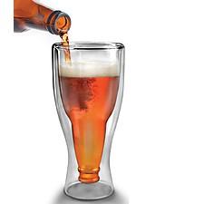 "Vaso Botella de Cerveza ""Hopside Down"""