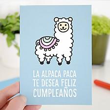 Tarjeta de cumpleaños original Alpaca Paca