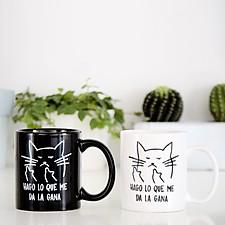 Taza con gato macarra