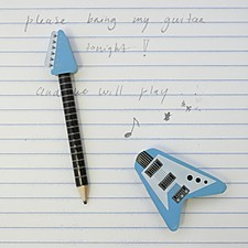 Lápiz con Goma Guitarra Eléctrica