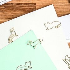 Clips metálicos con forma de gato o de perro