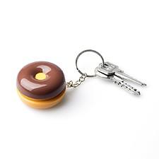 Llavero con pastillero en forma de donut o de galleta